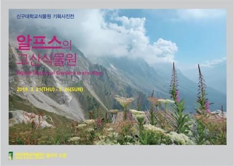 신구대학교식물원 2019년 기획사진전 알프스의 고산식물원 포스터