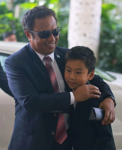 International Child Celebrity, Emiliano Cyrus aged 10 appointed as the Republic of Palau's Honorary Goodwill Ambassador for Tourism by President of The Republic of Palau, Tommy Remengesau