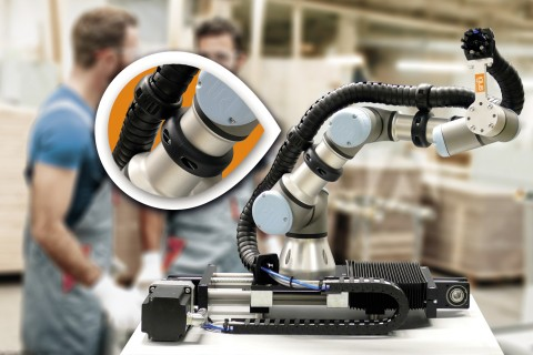 triflex R e체인을 위한 새로운 마운팅 클램프, 둥근 모서리 디자인은 기계 뿐 아니라 작업자의 안전도 책임진다