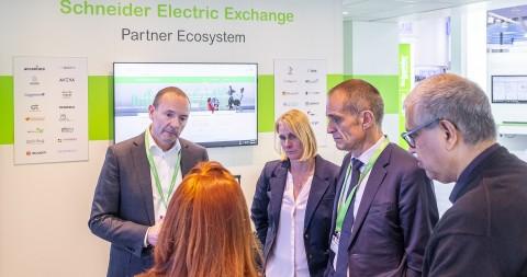 슈나이더일렉트릭이 독일 하노버 메세 2019에서 디지털 협업 네트워크 플랫폼인 슈나이더 일렉트릭 익스체인지를 발표했다