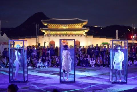 서울거리예술축제 2018 공연 현장(물질2 물질하다가(팀명: 코끼리들이 웃는다))