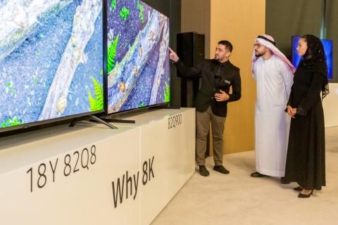 삼성전자가 QLED 8K를 중동 지역에 출시하고 QLED 8K TV 신제품을 소개하는 행사를 가졌다