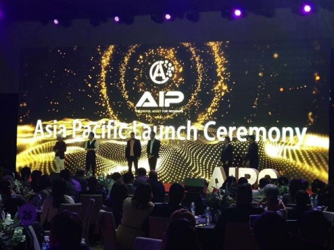 AIP International Investment Institution은 4월 28일 제주신화월드 호텔 랜딩홀에서 열린 행사에서 토큰 발행을 시작했다