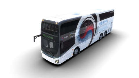 현대지동차가 최초로 공개한 이층 전기버스