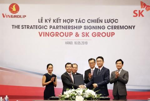 SK그룹이 베트남 빈그룹 지주회사 지분 약 6.1%를 10억달러에 매입하는 계약을 체결했다