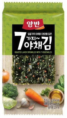 동원F&B가 출시한 양반 7가지 야채김