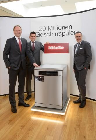 독일 빌레펠트에서 생산한 2000만번째 밀레 식기세척기