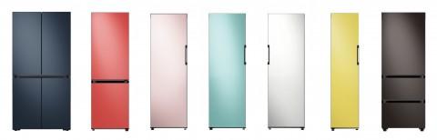 삼성전자가 공개한 비스포크 냉장고