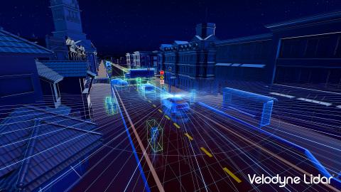 벨로다인 알파 퍽은 차량 주변의 인물과 물체의 위치를 동시에 파악하며 그들이 움직이는 속도와 경로를 평가할 수 있다