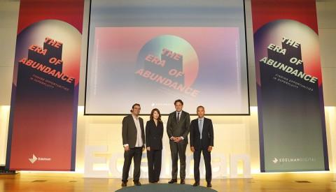 왼쪽부터 아담 허쉬 에델만 글로벌 디지털 부사장, 박하영 에델만디지털코리아 부사장, 스티븐 기호 에델만 글로벌 섹터 & IP 부문 부회장, 장성빈 에델만코리아 사장