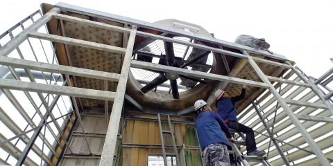NCH코리아가 냉각탑 충진물 교체 서비스를 실시한다