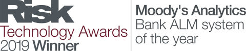 무디스 애널리틱스가 2019 리스크 기술상에서 올해의 은행 자산부채관리 시스템으로 선정되었다