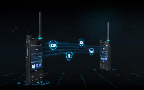 음성과 데이터가 AIE, 소프트 E2EE, SD카드 기반 E2EE로 안전하게 보호된다