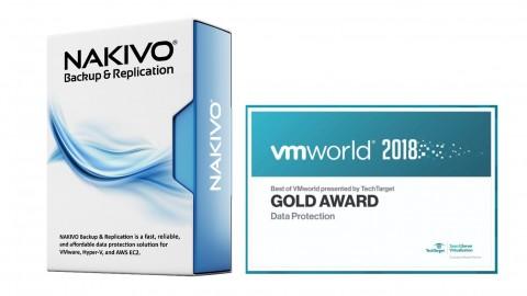 VMworld 2018에서 백업분야 Best of VMworld Gold Award를 수상한 나키보 백업 솔루션