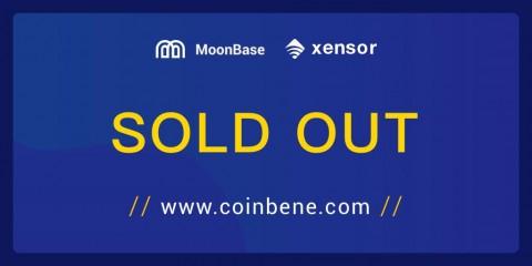 Xensor 프로젝트 CoinBene MoonBase IEO 완료