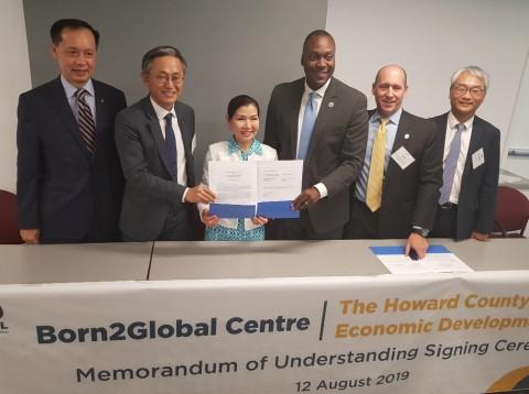 본투글로벌센터가 미국 하워드 카운티 경제개발국과 스타트업 공동 지원을 위한 양해각서를 체결했다