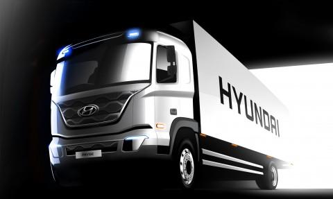 현대자동차가 준대형 트럭 파비스 렌더링 이미지를 최초 공개했다