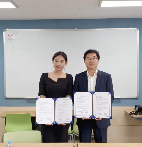 유시스가 사상여성인력개발센터와 업무협약을 체결했다
