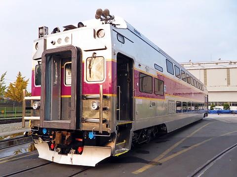현대로템이 2008년 수주한 보스턴 2층 객차