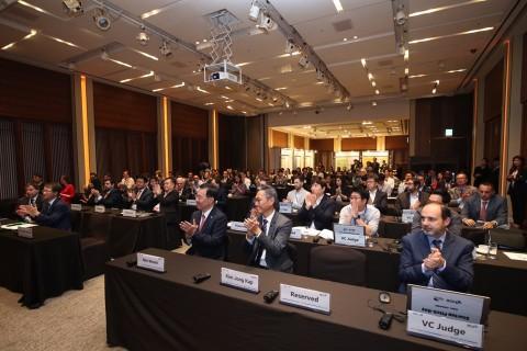 본투글로벌센터가 8일 서울 신라호텔에서 진행한 한-중남미 스타트업 피치데이(Korea-LAC Startup Pitch Day) 및 일대일 파트너링데이(1:1 Partnering Day)