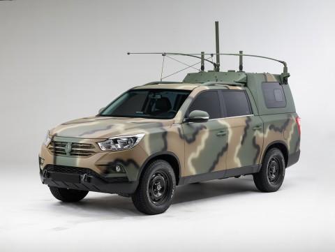 쌍용자동차가 국군 지휘차량으로 렉스턴 스포츠를 공급했다