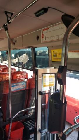 다인스가 설치한 버스 승차 인원 카운트 시스템