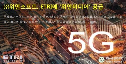 위안소프트, ETRI에 위안미디어 공급