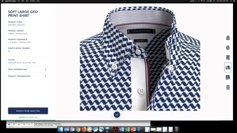 타미힐피거가 2020년 가을 컬렉션에서 100% 3D로 디자인된 남성용 드레스 셔츠를 선보인다