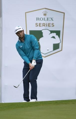롤렉스 홍보대사 존 람이 2019 BMW PGA 챔피언십에서 플레이하고 있다