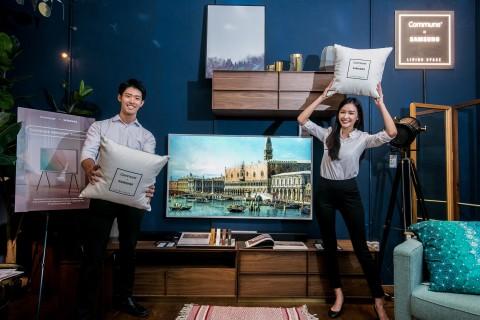삼성전자가 싱가포르에 세리프 TV 출시하며 라이스프타일 TV 체험 공간을 오픈했다