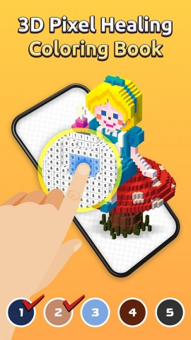 BUFF STUDIO launched My Coloring, a mobile 3D pixel art coloring book game. You can blow your stress away as you paint spaces in the order of numbers on the screen while reading calming messages. Relaxing background music you will listen during game play and its fairytale-like design will give you pleasure.