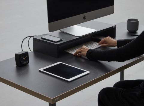 데스커 고속무선충전 USB허브 모니터받침대