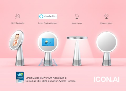 ICON.AI named as CES 2020 Innovation Awards Honoree for Venus, Smart Makeup Mirror with Alexa Built-in.