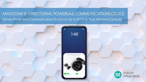 맥심이 양방향 DC 전력선 통신 관리 IC MAX20340을 출시했다