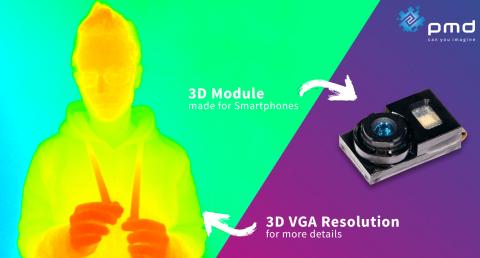 새로운 3D VGA 이미저가 내장된 최신 3D TOF 모듈