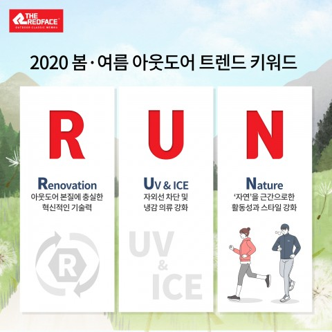 레드페이스가 키워드 '런(RUN)'으로 2020년 봄여름 아웃도어 트렌드를 전망한다