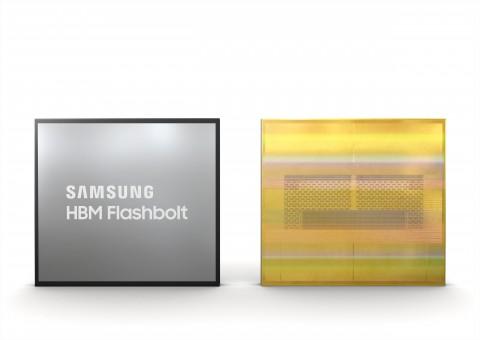 삼성전자 3세대 16GB HBM2E D램 플래시볼트