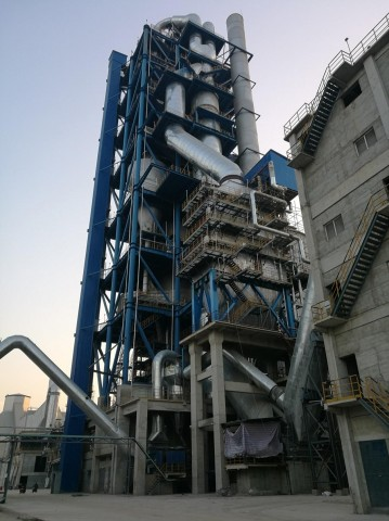 중국 안후이성 Huaibei Zhongbei Cement에 설치된 VEGA 보일러 1호기