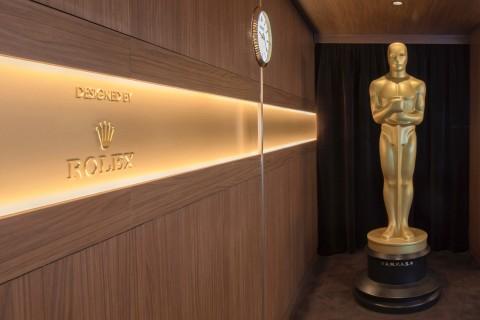 롤렉스가 디자인하고 운영하는 2020년 아카데미 시상식 돌비 극장 내 그린룸