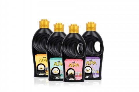 LG생활건강이 향기캡슐 없는 샤프란 아우라 펭수 에디션 4종을 출시했다