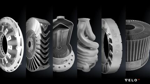 3D 프린팅으로 제조된 샘플 부품은 VELO3D의 고유한 금속 인쇄 공정이 이전에는 불가능했던 형상을 생성 할 수있는 방법을 보여준다. 응용 분야에는 항공, 석유 및 가스, 항공우주 및 기타 산업 시장이 포함된다