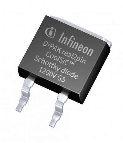 인피니언이 D2PAK 리얼 2핀 패키지를 적용한 1200V CoolSiC 쇼트키 다이오드를 출시했다