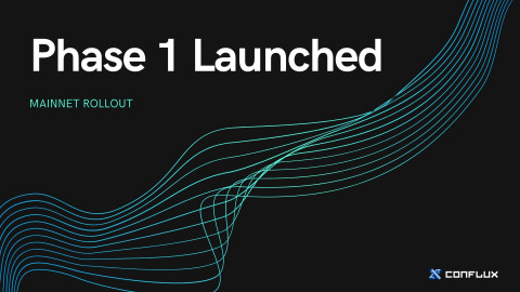 Conflux 네트워크 첫 단계가 정식 론칭했다