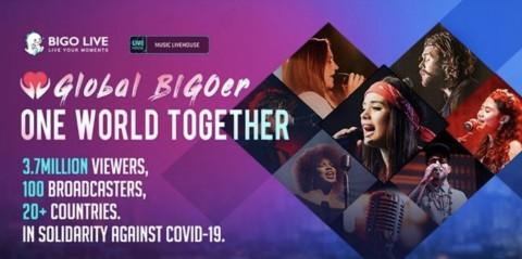 비고라이브의 'Global BIGOer One World Together' 캠페인
