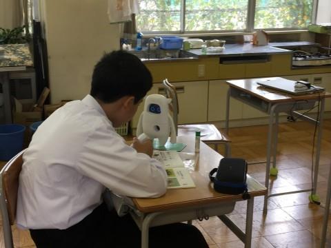 와코시립야마토중학교에서 뮤지오를 활용해 영어 수업을 진행하고 있다