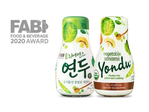 샘표의 연두가 미국 식품음료어워즈 올해의 혁신 제품상을 수상했다