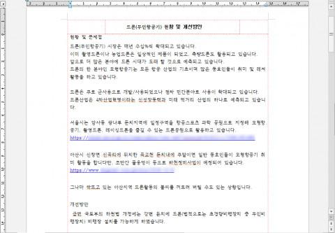안랩 드론 현황 및 개선방안으로 위장한 문서파일