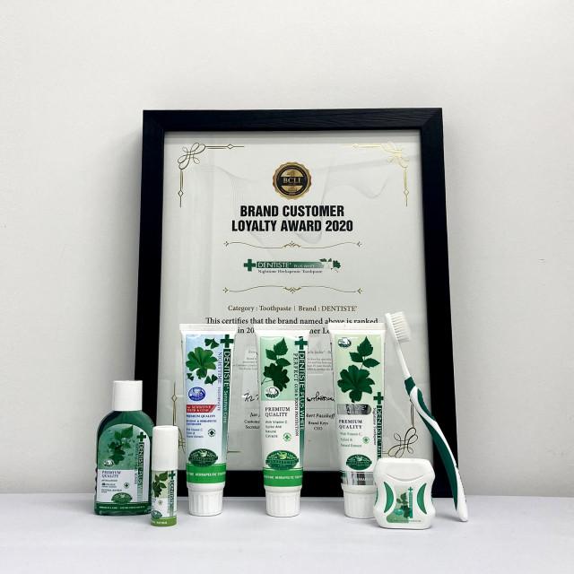덴티스테가 2020 브랜드 고객충성도 치약 부문 대상을 수상했다