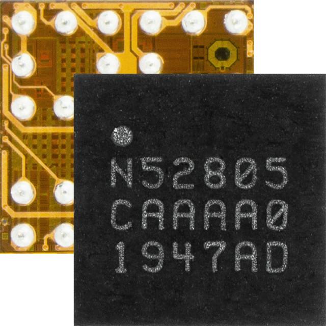nRF52805 WLCSP는 크기가 2.48x2.46mm에 불과해 2-레이어 PCB에 최적화되어 있으며 소형의 저비용 설계가 가능하다