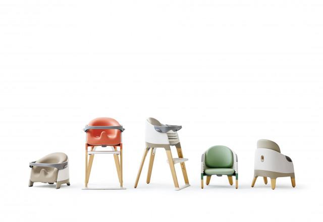 시디즈가 인체공학적 설계 노하우를 담은 신개념 아기 의자 몰티를 출시했다